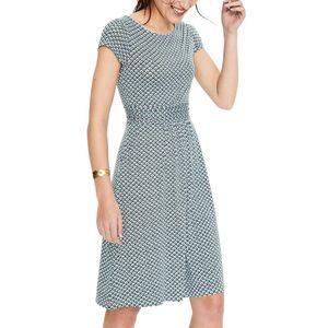 Boden Blue Geometric Amelie Jersey Dress